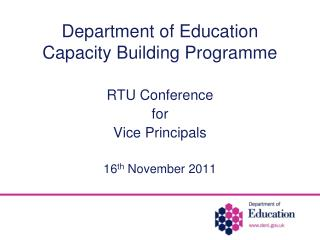 Department of Education Capacity Building Programme