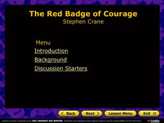 The Red Badge of Courage Stephen Crane