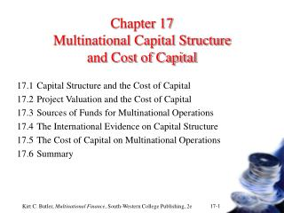 Chapter 17 Multinational Capital Structure  and Cost of Capital