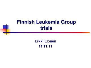 Finnish Leukemia Group trials