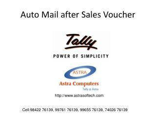 Auto Mail after Sales Voucher