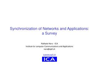 Synchronization of Networks and Applications: a Survey