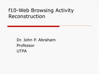 f10-Web Browsing Activity Reconstruction