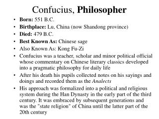 Confucius,  Philosopher