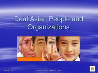 Deaf Asian People and Organizations