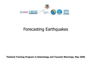 Thailand Training Program in Seismology and Tsunami Warnings, May 2006