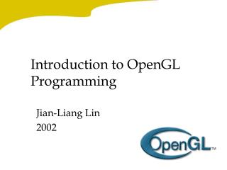 Introduction to OpenGL Programming