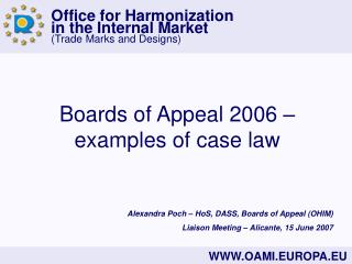 Boards of Appeal 2006 – examples of case law