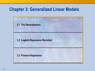 Chapter 3: Generalized Linear Models