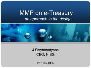 MMP on e-Treasury .. an approach to the design