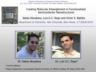 Creating Molecular Entanglement in Functionalized Semiconductor Nanostructures