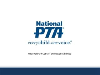 National Staff Contact and Responsibilities