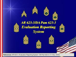 AR 623-3/DA Pam 623-3 Evaluation Reporting System