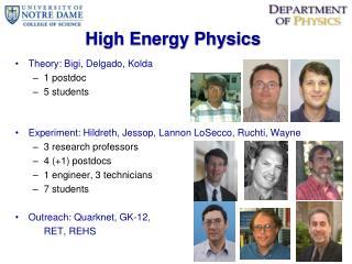 High Energy Physics