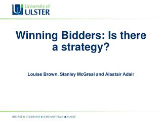 Winning Bidders: Is there a strategy?