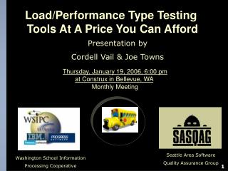 Presentation by Cordell Vail & Joe Towns