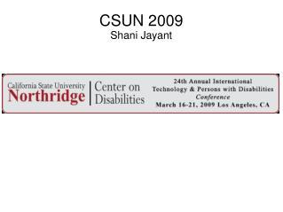 CSUN 2009 Shani Jayant