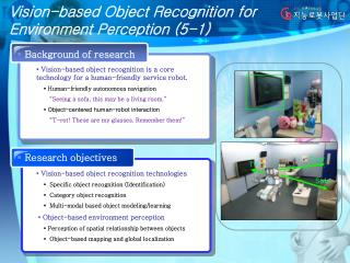 Vision-based Object Recognition for Environment Perception (5-1)