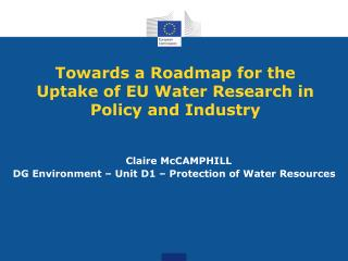 Towards a Roadmap for the Uptake of EU Water Research in Policy and Industry
