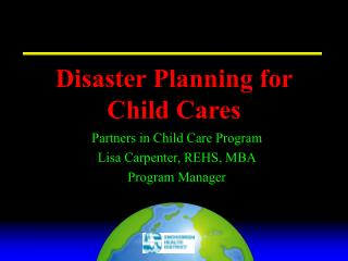 Disaster Planning for Child Cares