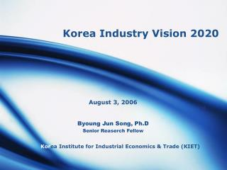 Korea Industry Vision 2020