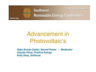 Advancement in Photovoltaic's