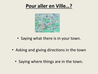 Pour aller en Ville…?