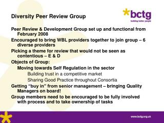 Diversity Peer Review Group