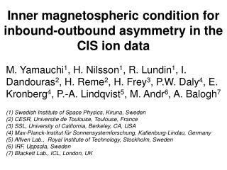 Inner magnetospheric condition for inbound-outbound asymmetry in the CIS ion dat a