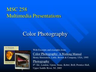 MSC 258 Multimedia Presentations