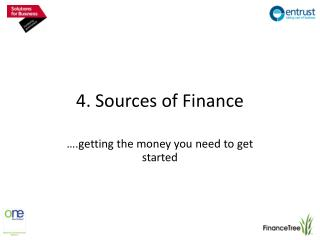 4. Sources of Finance