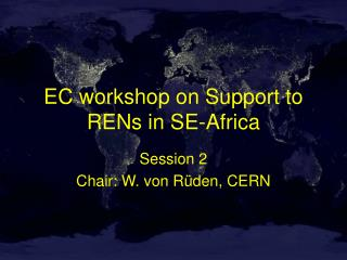 EC workshop on Support to RENs in SE-Africa