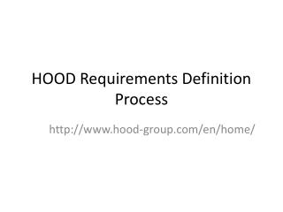 HOOD Requirements Definition Process