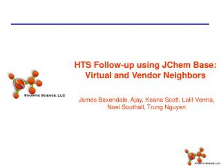 HTS Follow-up using JChem Base: Virtual and Vendor Neighbors