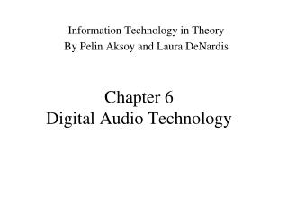 Chapter 6 Digital Audio Technology