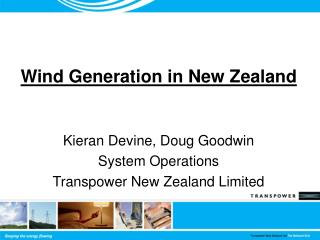 Wind Generation in New Zealand