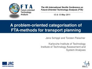 A problem-oriented categorisation of FTA-methods for transport planning