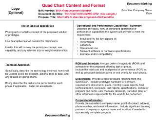 Quad Chart Content and Format
