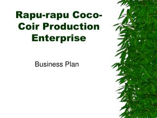 Rapu-rapu Coco-Coir Production Enterprise