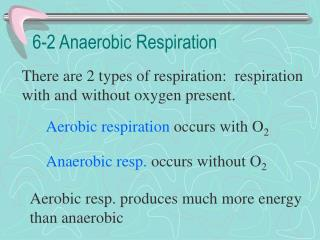 6-2 Anaerobic Respiration