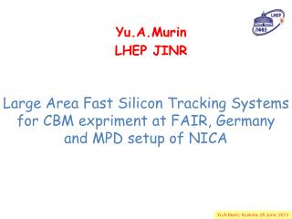 Large Area Fast Silicon Tracking Systems for CBM expriment at FAIR, Germany and MPD setup of NICA
