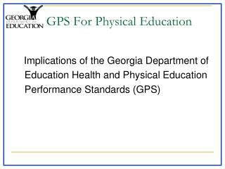 GPS For Physical Education