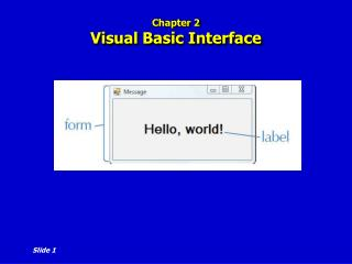 Chapter 2 Visual Basic Interface