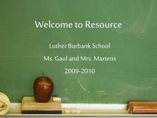 Welcome to Resource