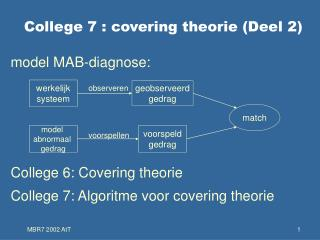College 7 : covering theorie (Deel 2)
