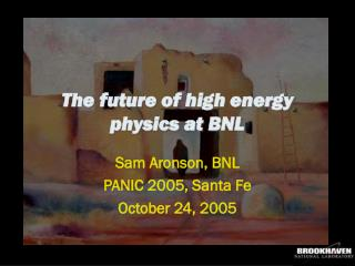 The future of high energy physics at BNL