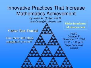 Innovative Practices That Increase  Mathematics Achievement