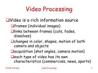 Video Processing