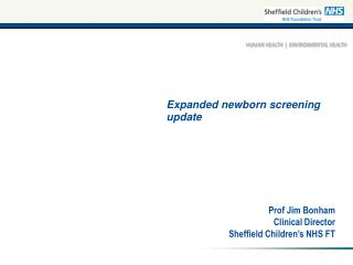 Expanded newborn screening update