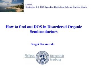 How to find out DOS in Disordered Organic Semiconductors